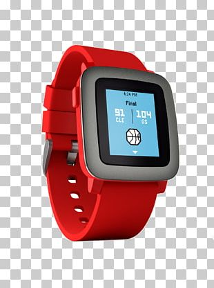 Pebble Time Steel Smartwatch PNG