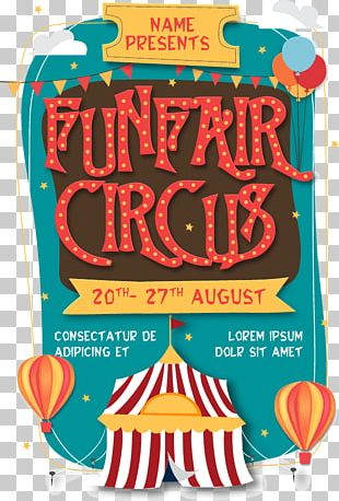 Circus Flyer Poster Traveling Carnival PNG