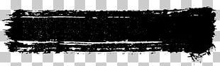 Brush Grunge Black And White PNG
