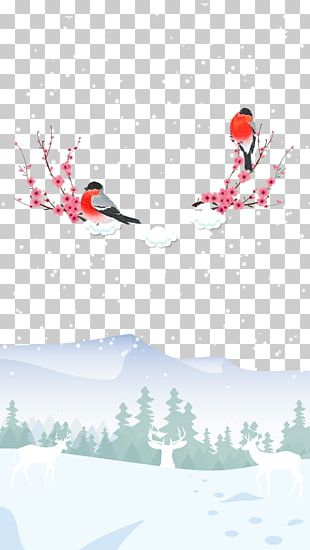 Dongzhi Winter Poster Illustration PNG