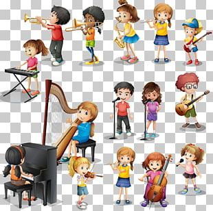 Musical Instrument Play Child Illustration PNG