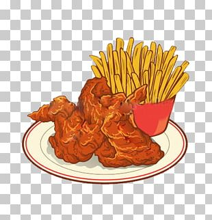 Fried Chicken French Fries Buffalo Wing Fast Food Roast Chicken PNG