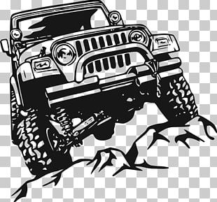 Jeep Wrangler Car Wall Decal PNG