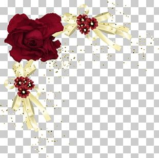 Flower Red Rose Floral Design Yellow PNG