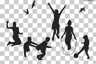 Silhouette Child Play PNG