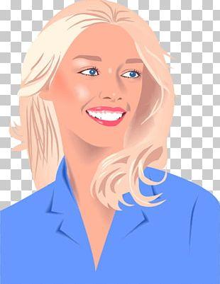 Portrait Of Blonde Woman PNG