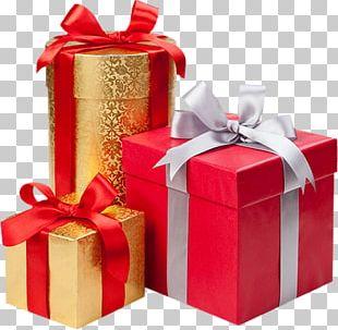 Christmas Gift Decorative Box PNG