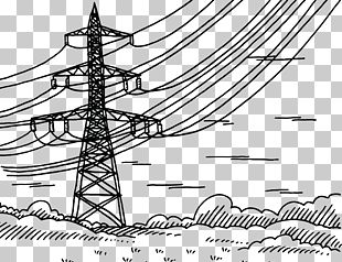 Electricity Overhead Power Line High Voltage Electric Power Radio Frequency PNG