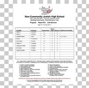 Report Card Middle School Grading In Education National Secondary School PNG