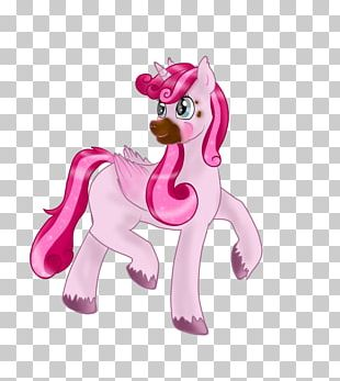 Horse Figurine Pink M Character Fiction PNG