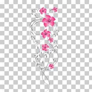 Floral Design Pink Cut Flowers PNG