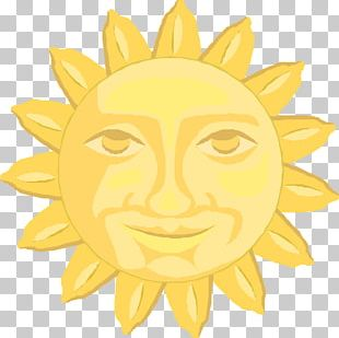 Hand-painted Sun Would PNG