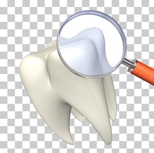 Tooth Whitening Magnifying Glass Dentist Illustration PNG