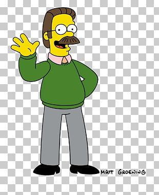Ned Flanders Cartoon Character Moustache PNG