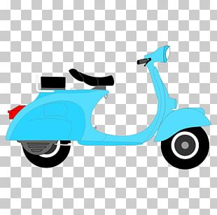 Scooter Moped Motorcycle Vespa PNG