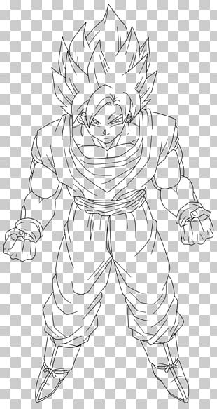 White Line Art Character Sketch PNG