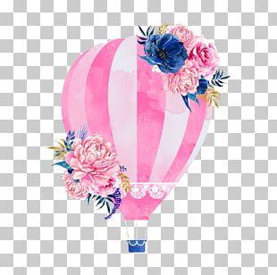 Wedding Invitation Hot Air Balloon PNG
