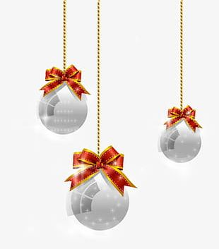 Christmas Ball Decoration Background PNG