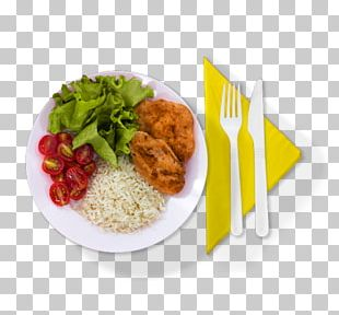 Plate Full Breakfast Cutlery Meal Dish PNG