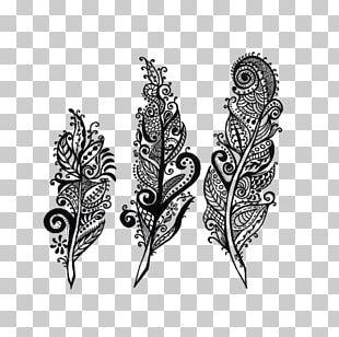 Drawing Feather Tattoo Mandala PNG