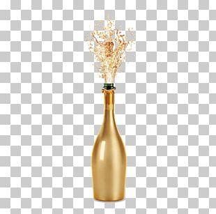 Champagne Sparkling Wine Fizz Bottle PNG