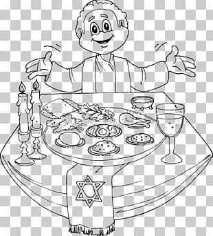 Passover Seder Plate Coloring Book Child PNG