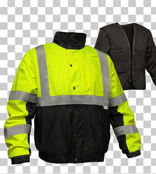 High-visibility Clothing Flight Jacket Personal Protective Equipment PNG