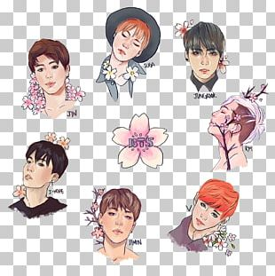 BTS Drawing Fan Art PNG