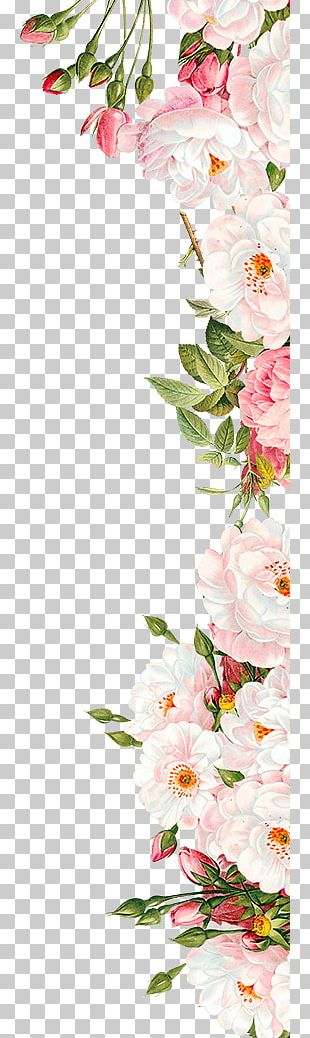Pink Flowers Wedding Invitation PNG