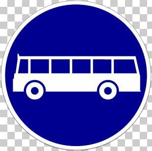 Bus Lane Traffic Sign Road PNG