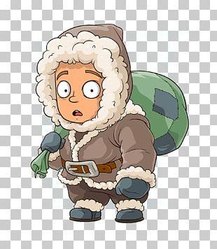 Eskimo Cartoon Character Illustration PNG
