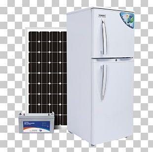 Solar-powered Refrigerator Solar Energy Solar Power Solar Panels PNG