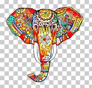 Work Of Art Elephant Drawing Painting PNG