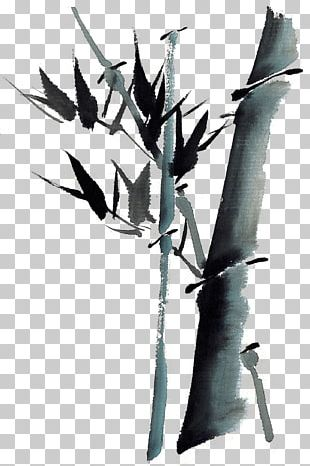 Bamboo Raster Graphics Ink Wash Painting PNG