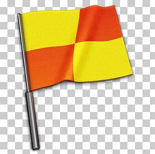 Angle Yellow Flag PNG