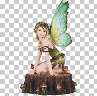 The Fairy With Turquoise Hair Figurine Statue Magic PNG