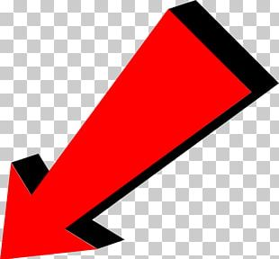 Arrow Red Pointing Bottom Left PNG