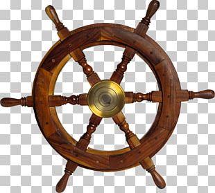 Ship's Wheel Sailor Boat PNG