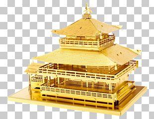 Kinkaku-ji The Temple Of The Golden Pavilion Fascinations Metal Earth 3D Laser Cut Model Himeji Castle PNG