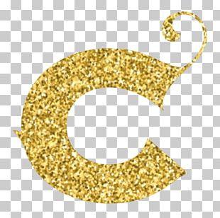Letter Alphabet Glitter C Font PNG