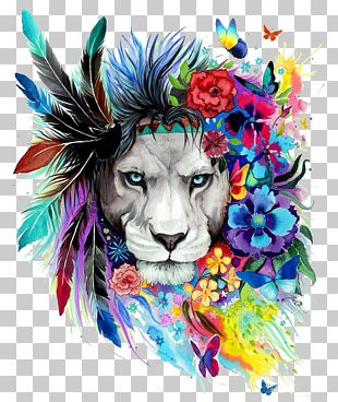 Lion Art Drawing Poster Painting PNG