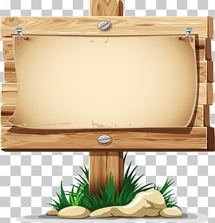 Wood Sign PNG