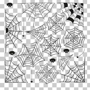 Spider Web Cartoon Halloween PNG