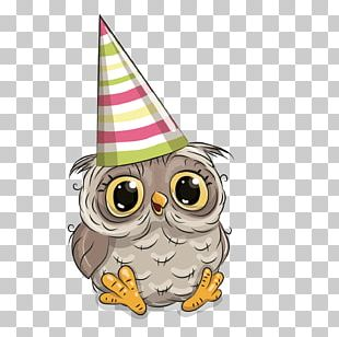 Owl Birthday Greeting Card Party PNG