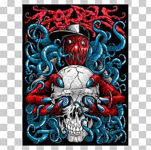 Art Skull Electric Blue Font PNG