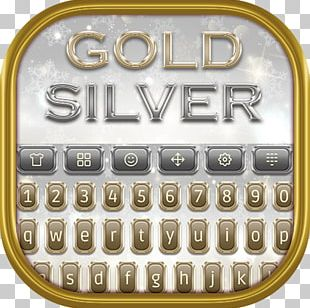 Metal Silver Computer Keyboard Gold Android Application Package PNG