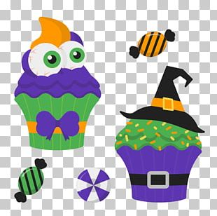 Ice Cream Cupcake Halloween Candy Corn PNG