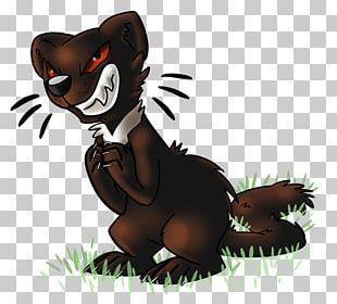 Bear Cat Cartoon Tail PNG