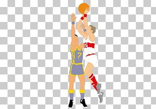 Double Basketball Slam Dunk Jumping PNG