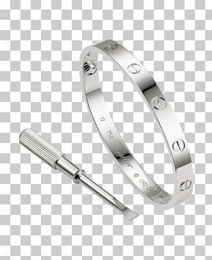 Love Bracelet Cartier Bangle Silver PNG